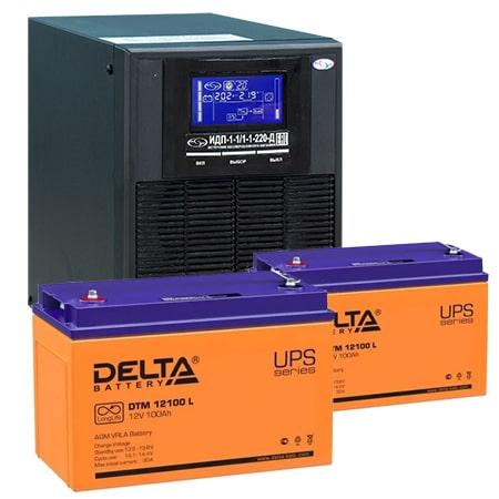 ИБП для газовых котлов 1 кВА ИДП-1-1/1-1-220-Д + АКБ 100 Ач