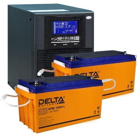 ИБП для газовых котлов 1 кВА ИДП-1-1/1-1-220-Д + АКБ 65 Ач
